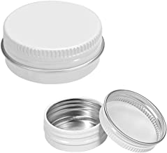 uxcell® 1/2 oz Round Aluminum Cans Tin Screw Top Metal Lid Containers White 15ml 24pcs