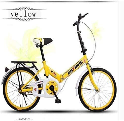 Pkfinrd Klein werk draagbare volwassen dames vouwfiets multifunctionele student fiets meisjes wandelen fiets