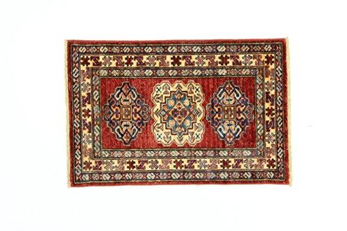 Eden Carpets Kazak Super mollen, wol, meerkleurig, 59 x 89 cm