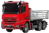 TAMIYA 56361 Arocs 3348 - Camión teledirigido (Escala 1:14 MB), Color Rojo y Plateado