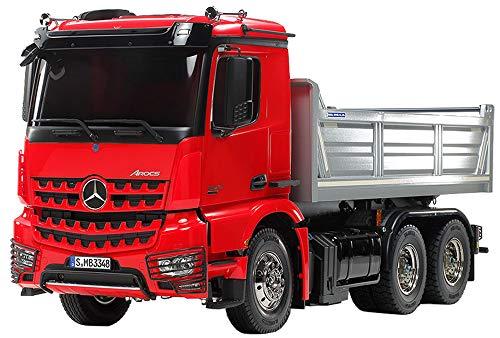 TAMIYA 56361 1:14 MB Arocs 3348 Rot/Silber Kipper, Bausatz zum Zusammenbauen, RC Truck, fernsteuerbarer, Lastwagen, LKW, Konstruktionsspielzeug, Modellbau, Basteln