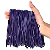 Coopay 180 Pack Large Rubber Bands, Heavy Duty Trash Can Band, Strong Elastic Bands for Office Supply, Garbage Cans, File Folders, Size 8 inches (Purple)