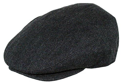 Men's Premium Wool Blend Classic Flat Ivy Newsboy Collection Hat , 1581-Charcoal, Medium