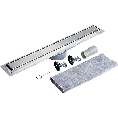 360 Grados Giratorio Acero Inoxidable Lineal Drenaje de La Ducha para Suelo de Baldosas Desagüe de Piso para Cuarto de Baño y Cocina (90cm)