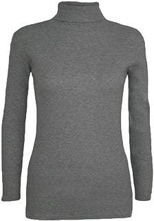 Momo&Ayat Fashions Ladies Jersey Lightweight Long Sleeve Polo Neck Tshirt Top AUS Size 8-26