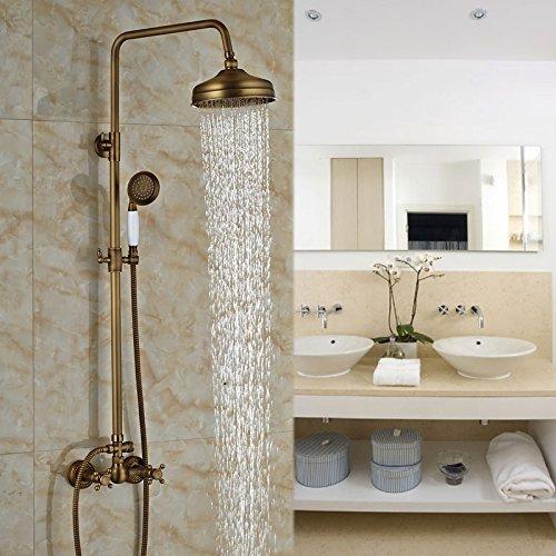 Badezimmer In-Wall Regen Bad Dusche Wasserhahn Set Messing antik Hand-Help Dusche