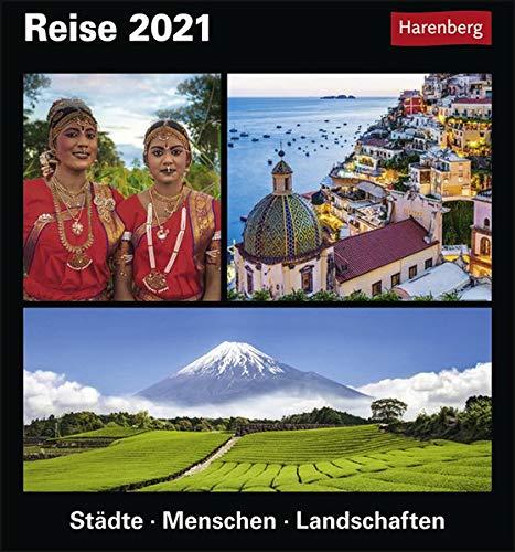 Reise Kulturkalender 2021 - Tagesabreißkalender zum Aufstellen oder Aufhängen - Tischkalender mit vielfältigen Reiseziele rund um den Globus - Format 15,4 x 16,5 cm