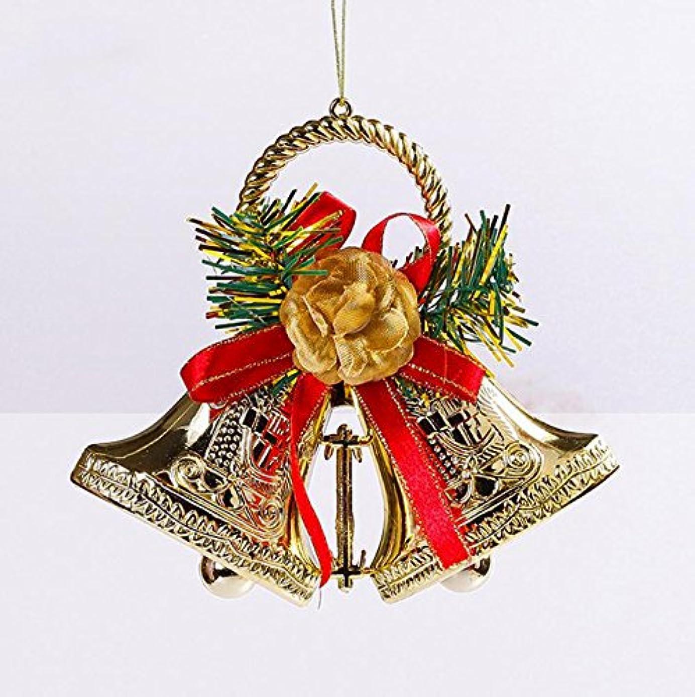 対処お茶ギャップクリスマスリース ベル 鈴 ゴールド キラキラ 玄関飾り ドア掛け クリスマスツリー飾り デコレーション かわいい お洒落 リボン付き