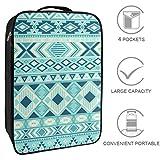Bennigiry Ikat modello tribale etnico motivi geometrici texture borsa da viaggio borsa org...