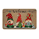 Aotifu Christmas Decorations Carpets Doorstep Carpet Tapestry Carpet Rug for Famliy 15.75 * 23.62 Inches Traditional Welcome Mat Door Indoor Outdoor Shoe Cleaner