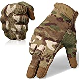 WTACTFUL Flexible Breathable Touch Screen Full Finger Gloves for Motorcycle Cycling Motorbike Riding Driving Racing Climbing Camping Hiking Hunting Work Size Large CP Camo