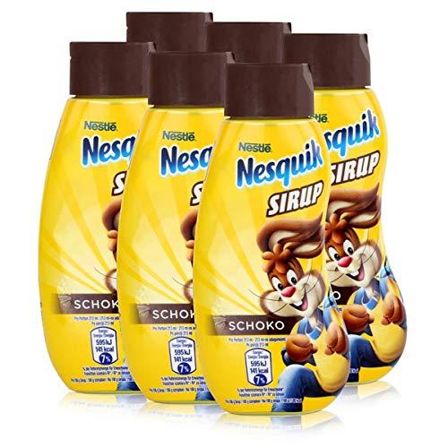Nestle Nesquik Schoko Sirup 300ml - Extra schokoladig im Geschmack (6er Pack)