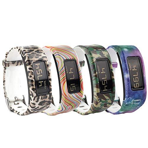 Bracelet de rechange en silicone Fit-power, pour Garmin Vivofit (bracelet uniquement), Pack of 4G