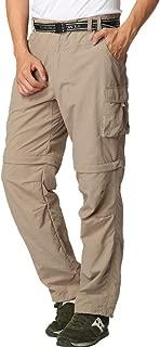 JOMLUN Men's Quick Dry Hiking Pants Convertible Pants Outdoor Adventure Bottoms Lightweight Zip Off Travel Mountain Pants