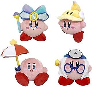 Little Buddy 4 只装 Kirby Adventure 全明星 - 镜子 2/ 刀具 2/ Parasol 2/ Doctor Kirby 毛绒玩具