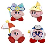 Little Buddy LB-1677787980 Set of 4 Kirby Adventure All Star, Mirror 2/Cutter 2/Parasol 2/Doctor Kirby Plushes (Pack of 4)