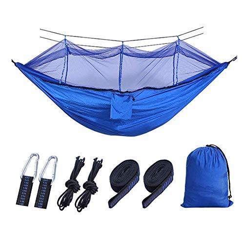 Haa de Camping con Mosquitera 2 Persona, 260 * 1 40 cm/Capacidad de Carga de Hasta 300 Kg, Peso Ligero para Haa de Jardín Interior Al Aire Libre con transporte Gymqian
