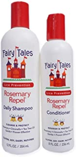 Fairy Tales Rosemary Repel Daily Kid Shampoo (12 Fl Oz) & Conditioner (8 Fl Oz) Duo for Lice Prevention, Combo 3