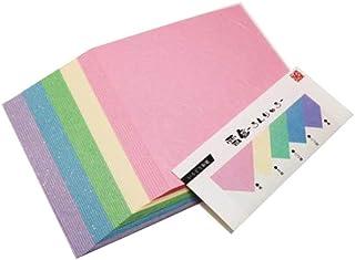 MOLZA 美の紙工房 いろどり和紙 折り紙 雲竜(うんりゅう)10枚×5色 (計50枚入) 150mm*150mm IS-150U