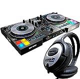 Hercules djcontrol jogvision USB controlador DJ con Air Control + Auriculares Keepdrum