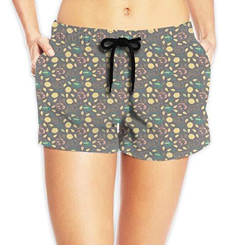 FULIYA Pantalones cortos de natación elásticos para mujer, playa de verano, con cordón ajustable