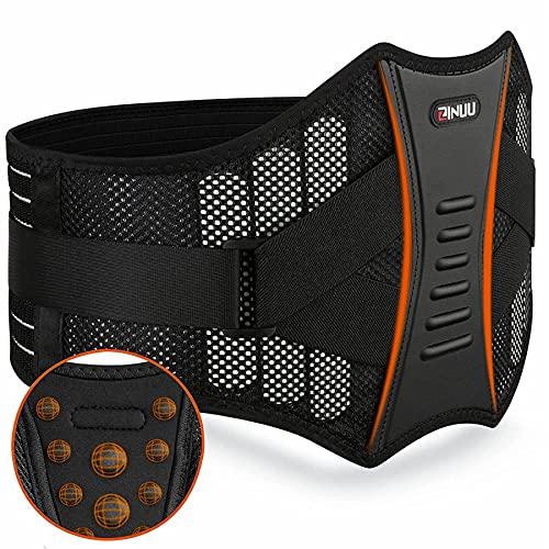 Rückenstütze Sports Rückenbandage Lendenwirbelbandage Damen und Herren Nierengurt für effektive Stabilisierung des Rückens Unterstützend wärmender Lendenwirbelstütze Gürtel 70-130cm