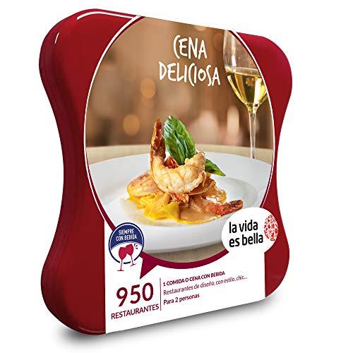 LA VIDA ES BELLA - Caja Regalo hombre mujer pareja idea de regalo - Cena deliciosa - 950 restaurantes de diseño, chic, con estilo y mucho más
