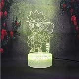 Lámpara de mesa 3D estéreo de estilo minimalista nórdico para niños, juguete, regalo, crack, escritorio, efecto de iluminación de escenario, luz nocturna, LED, Japón, lámpara de dibujos animados