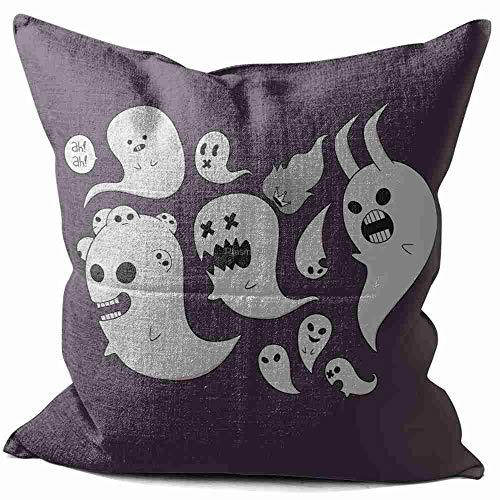 CibliUzHA Lino Cojines Kids See Ghosts Funda de Cojín Almohada Caso de Cojines para Sala de Estar sofá Cama 50x50 cm/20x20 Inch A#005