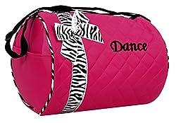 Princess Dance bag - Quilted Zebra Duffle