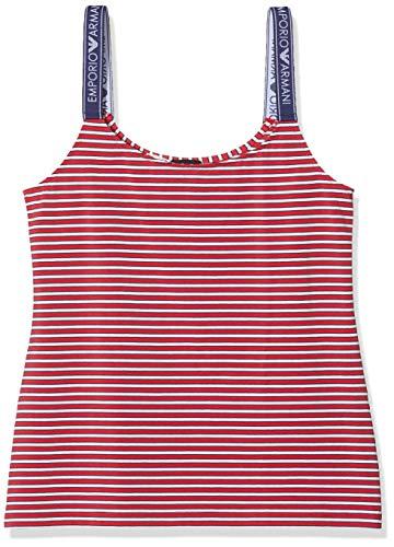 Emporio Armani Underwear Damen Visibility-Solid & Stripes Tank Top, Rot (RIGA Rosso/Panna 31774), 36 (Herstellergröße:S)