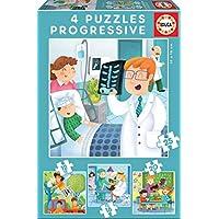Educa - Puzzles Progresivos, puzzle infantil De Mayor Quiero Ser de 12,16,20 y 25 piezas, a partir de 3 años (17146)