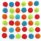 MICHLEY 18pcs 1.18 in Mini Soft Multicolor Porcupine Balls