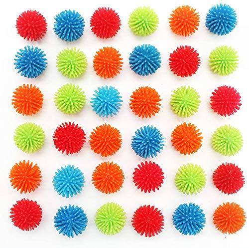 MICHLEY 18pcs 1.18 in Mini Soft Vinyl Multicolor Porcupine Balls