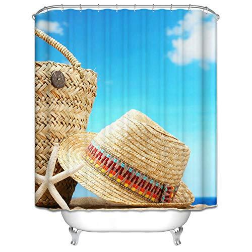 ANAZOZ Mildew weerbestendige douchegordijn Polyester kleurrijke hoed roestvrij badkamer gordijn met haken