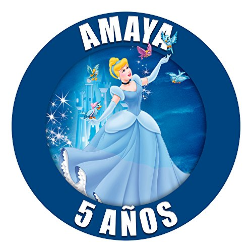 OBLEA de Papel de azúcar Personalizada, 19 cm, diseño de Disney La Cenicienta