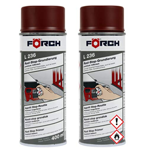 Förch 2X L236 Roststop-Grundierung rotbraun 400ml 62000505 Roststop Spray (2x400ml)
