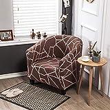 LLAAIT pequeñas Pieles de sofá de un Solo Asiento de 1 Plaza Funda para Silla sillón Fundas para Comedor con Estampado Floral