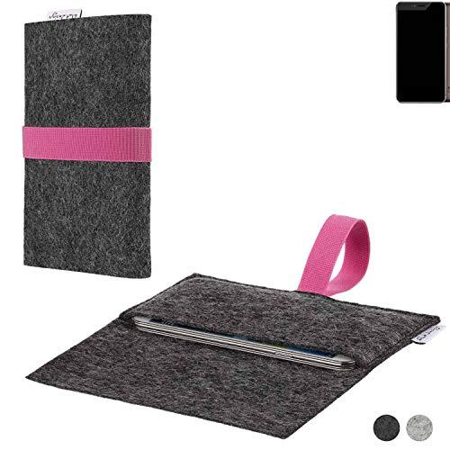 flat.design Handy Hülle Aveiro für Allview X4 Xtreme passgenaue Filz Tasche Case Sleeve Made in Germany