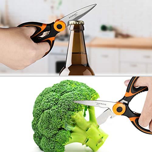 Kitchen Scissors,TWSCVC Heavy Duty Multifunction Kitchen Shears Ultra Sharp Stainless Steel Scissors for Chicken,Poultry,Fish, Meat,Vegetables & Herbs