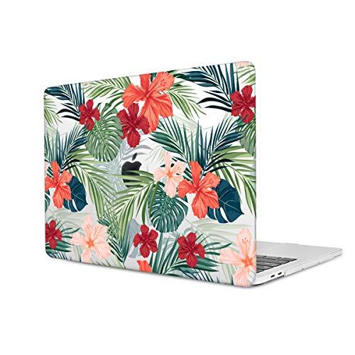 TwoL Funda MacBook Pro 16 Pulgadas 2019, Ultra Delgado Carcasa Rígida Protector de Plástico Cubierta para MacBook Pro 16 Touch Bar & Touch ID A2141 Flor Tropical