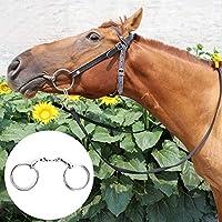 目的馬リングスナッフル馬スナッフルステンレス鋼リングスナッフル、壊れた口の曲がったリングすべての目的リングビット、馬ホースリング用の頑丈なホースツール(large)