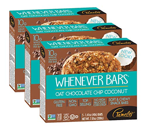 Pamela's Products Gluten Free Whenever Bars (Oat Choc Chip Coconut, Pack of 3)