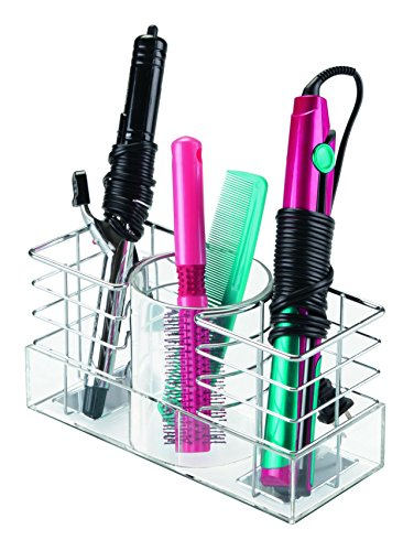 InterDesign Luci Bathroom Storage Haircare Organiser, Brush and Hair Dryer...