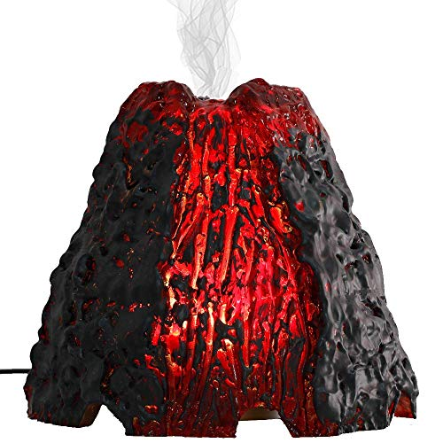 Gift for Women Men Kids Volcano Essential Oil Diffuser Aromatherapy Diffuser 200ML Home Office Art Decor Ultrasonic Aroma Humidifier with Color Changing LED Lamp for Bedroom Living Room Office