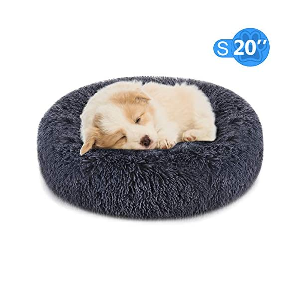 """FOCUSPET Dog Bed Cat Bed Donut,Pet Bed Faux Fur Cuddler Round Comfortable for Small Medium Large Dogs Ultra Soft Calming Bed,Self Warming Indoor Sleeping Bed Multiple Sizes (20""""/24""""/32""""/40""""/46"""")"""