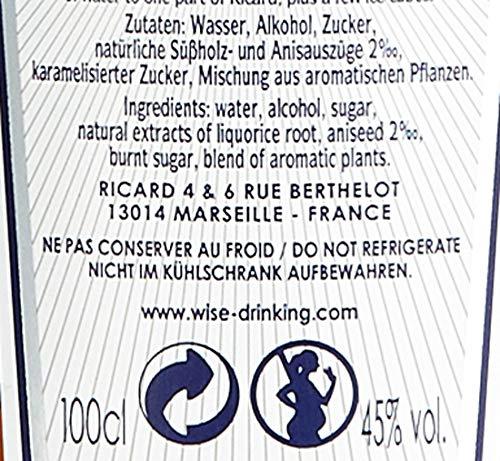Ricard Pastis / Französischer Likör mit Sternanis, erfrischendem Kräuteraroma & Süßholzsaft / Spirituose mit universeller Mixbarkeit / 1 x 1 L - 7