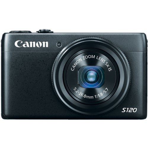 Canon PowerShot S120 12.1 MP CMOS Digital Camera with 5x Optical Zoom and 1080p Full-HD Video Wi-Fi Enabled