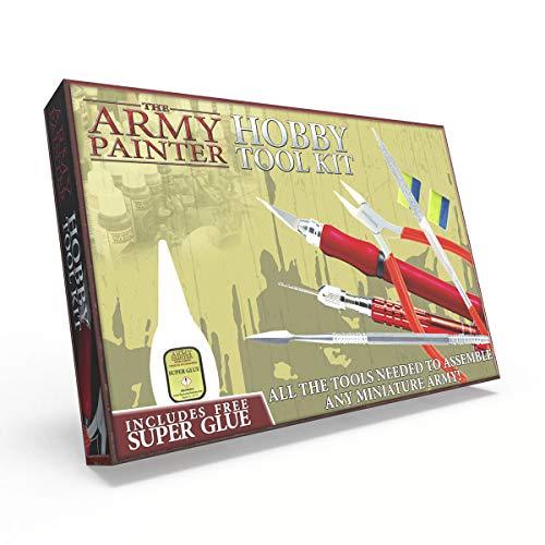The Army Painter | Hobby Tool Kit | Werkzeugkasten für Anfänger | Messer, Feile, Bohrer, Fräser und andere Werkzeuge für Wargames, Rollenspiele und Tabletop Miniatur Modell Malerei