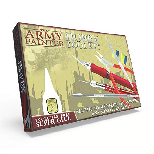 The Army Painter Hobby Tool Kit, Beginner Tool Set with Knife, File, Drill, Cutter and other Tools for Wargames, Roleplaying and Tabletop Miniature Model Painting